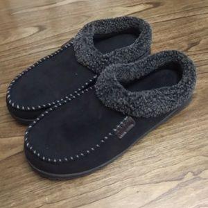 Dearfoams Men's Black Slip-on Shoes Slipper L11-12